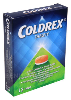 Coldrex - COLDREX 500MG/25MG/5MG/20MG/30MG neobalené tablety 12