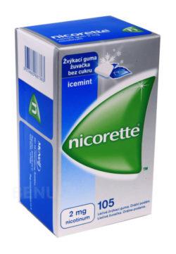 Nicorette - NICORETTE ICEMINT GUM 2MG léčivé žvýkací gumy 105