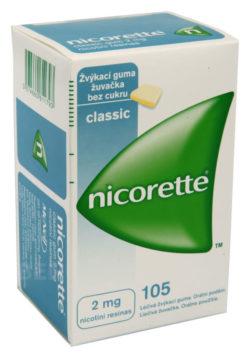 Nicorette - NICORETTE CLASSIC GUM 2MG léčivé žvýkací gumy 105