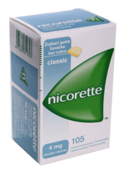 Nicorette - NICORETTE CLASSIC GUM 4MG léčivé žvýkací gumy 105