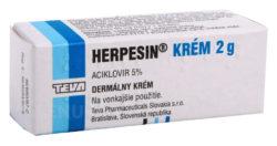 Herpesin - HERPESIN 50MG/G krém 2G