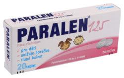 Paralen - PARALEN 125 125MG neobalené tablety 20