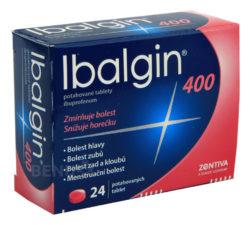 Ibalgin - IBALGIN 400 400MG potahované tablety 24