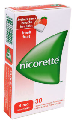 Nicorette - NICORETTE FRESHFRUIT GUM 4MG léčivé žvýkací gumy 30