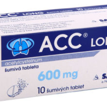 ACC - ACC LONG 600MG šumivá tableta 10