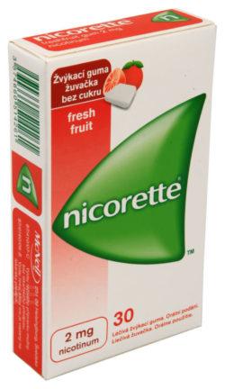 Nicorette - NICORETTE FRESHFRUIT GUM 2MG léčivé žvýkací gumy 30