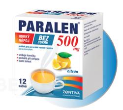 Paralen - PARALEN HORKÝ NÁPOJ BEZ CUKRU 500MG perorální PLV SOL SCC 12