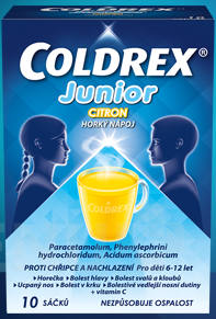Coldrex - COLDREX JUNIOR CITRON 300MG/5MG/20MG perorální PLV SOL SCC 10