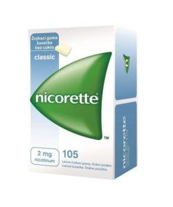 Nicorette Classic Gum 2 mg léčivá žvýkací guma 105 žvýkaček