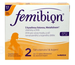 Femibion - Femibion 2 s vit. D3 bez jódu tbl.60 + tob.60