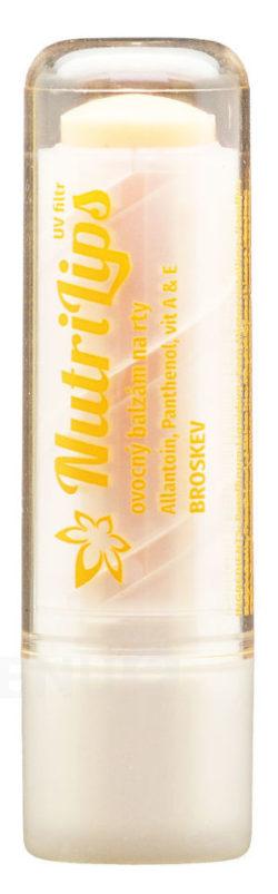 Nutricius - NutriLips balzám na rty s panthenolem broskev 4.8g