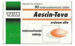 Aescin - AESCIN-TEVA 20MG enterosolventní tableta 90