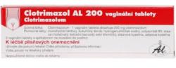 Clotrimazol - CLOTRIMAZOL AL 200 200MG vaginální TBL 3