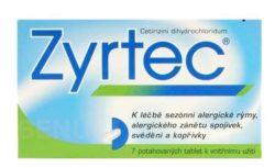 Zyrtec - ZYRTEC 10MG potahované tablety 7