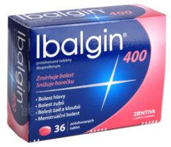 Ibalgin - IBALGIN 400 400MG potahované tablety 36