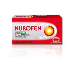 Nurofen - NUROFEN RAPID 400 MG CAPSULES 400MG měkké tobolky 10 I