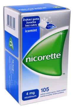 Nicorette - NICORETTE ICEMINT GUM 4MG léčivé žvýkací gumy 105
