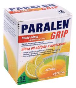 Paralen - PARALEN GRIP HORKÝ NÁPOJ CITRÓN 650MG/10MG perorální GRA SUS 12