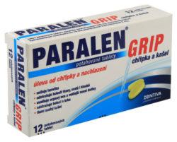Paralen - PARALEN GRIP CHŘIPKA A KAŠEL 500MG/15MG/5MG potahované tablety 12