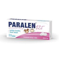 Paralen pro děti 125 mg 20 tablet