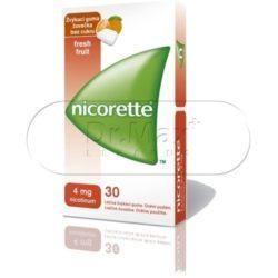 Nicorette FreshFruit Gum 4 mg léčivá žvýkací guma 30 žvýkaček