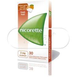 Nicorette FreshFruit Gum 2 mg léčivá žvýkací guma 30 žvýkaček