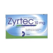 Zyrtec 10 mg 7 tablet