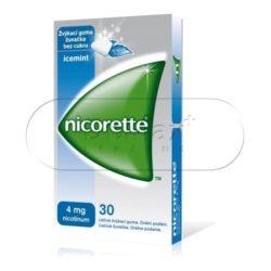 Nicorette Icemint Gum 4 mg léčivá žvýkací guma 30 žvýkaček