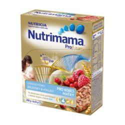 Nutrilon Nutrimama Cereální tyčinky pro kojící matky brusinky a maliny 5x40 g
