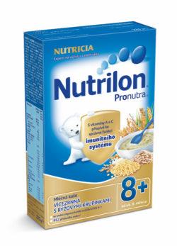 Nutrilon kaše vícezrnná s rýžovými křupinkami mléčná 225g 8M
