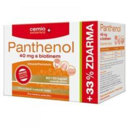 CEMIO Panthenol 40 mg s biotinem 60+20 kapslí ZDARMA