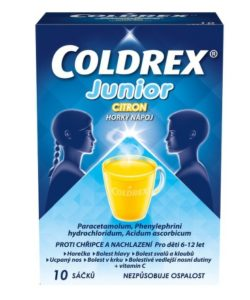 Coldrex Junior Horký nápoj Citron 10 ks