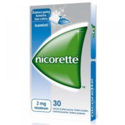 NICORETTE ICEMINT GUM 30X2 MG Žvýkačky