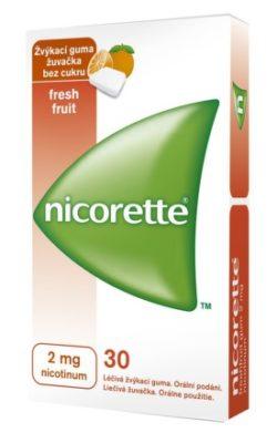 Nicorette FreshFruit Gum 2 mg léčivá žvýkací guma 30