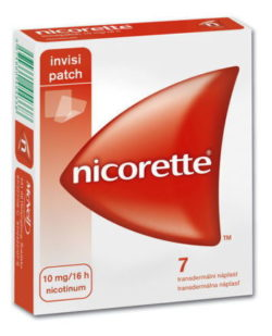 Nicorette Invisipatch 10mg/16h náplast 7x10mg