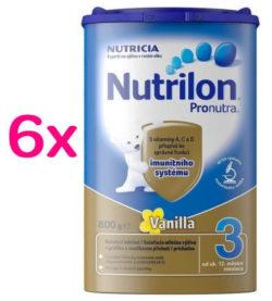 Nutrilon 3 Vanilka 800g SIXPACK