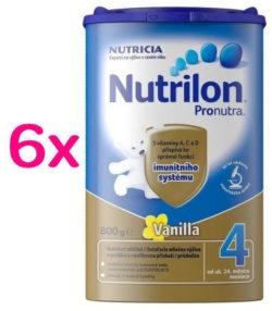 Nutrilon 4 Vanilka 800g SIXPACK