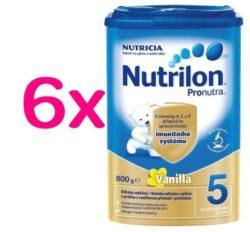 Nutrilon 5 Pronutra Vanilla 800g SIXPACK