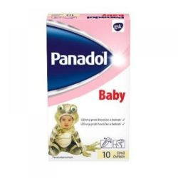 PANADOL Baby rektální čípky SUP 10x125 mg
