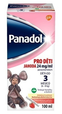 Panadol pro děti 24mg/ml Jahoda perorální suspenze 100ml