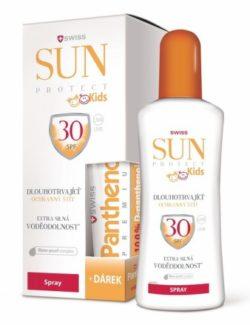 SunProtect Swiss KIDS F30 sprej 250ml + Panthenol 50ml