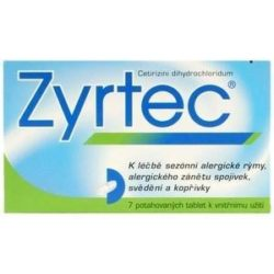Zyrtec perorální tablety film  7 x 10 mg