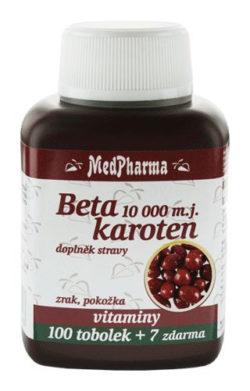 MedPharma Beta karoten 10.000 m.j.+ Panthenol + PABA tob.107