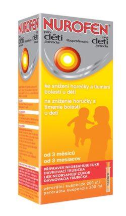 Nurofen Pro děti jahoda suspenze 200 ml