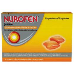Nurofen Junior Pomeranč 100 mg 12 žvýkacích tobolek Tablety žvýkací
