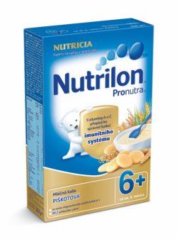 Nutrilon kaše Pronutra mléčná piškotová 6M 225g